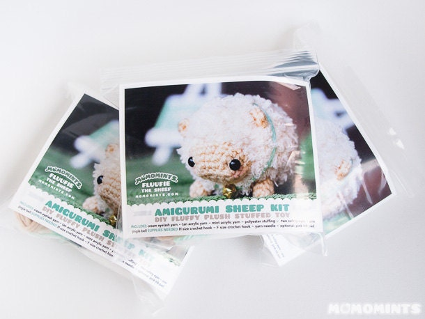 DIY Amigurumi Kit Amigurumi Sheep Stuffed Toy by momomints