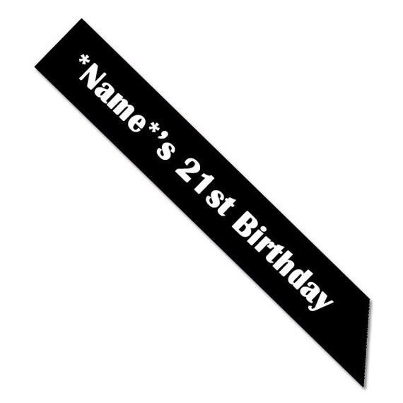Custom 21st Birthday Sash By TheBridalPartyau On Etsy