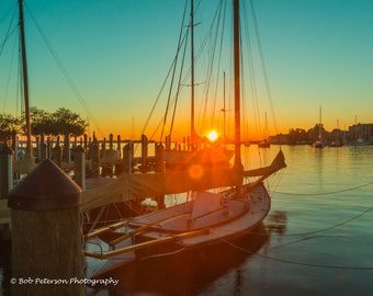 Sunrise in the Annapolis Harbor.