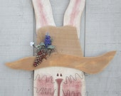 Primitive wood bunnies, primitive Easter, primitive spring, country decor, Easter decor, Easter bunnies, country primitive, primitive decor