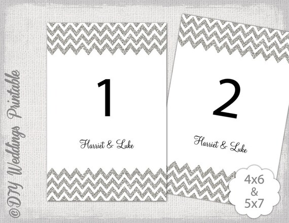 table number template silver glitter printable wedding number. Black Bedroom Furniture Sets. Home Design Ideas
