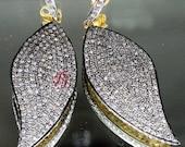 Victorian Estate Style 2.50ct Rose Cut Diamond Antique Look Handmade Earrings