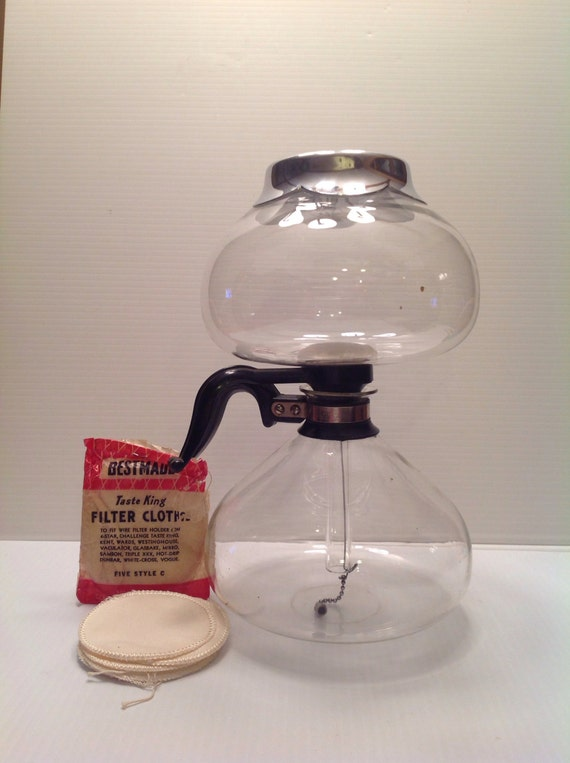 Vacuum Coffee Maker In Spanish : Pyrex For Silex Co. Vintage Vacuum Coffee Maker w/ Bestmade