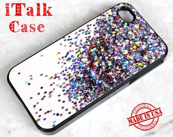 iPhone 4s iPhone 4 Case,iPhone 4S Case, iPhone 4S Cover,iPhone 4/4S skins,iPhone 4/4S Protective Cover - Colorful Sparkle (Not Real Glitter)
