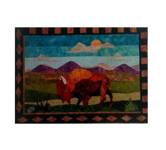 Bj designs patterns bryson bison applique by for Bj custom designs