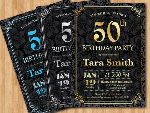 Exceptionnel Invito festa di compleanno di sorpresa. 30 40 50 60 70 FO82