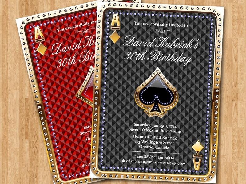 Gambling birthday – Las Vegas Party Invitations