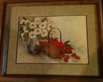 Strawberry and Daisy Home Interior Vintage picture