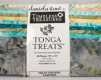 Timeless Treasures Tonga Treat Squares Cabana
