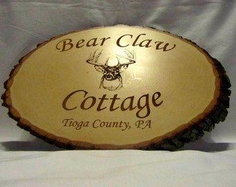 Personalized Rustic Signs - Custom Engraved Cabin Name
