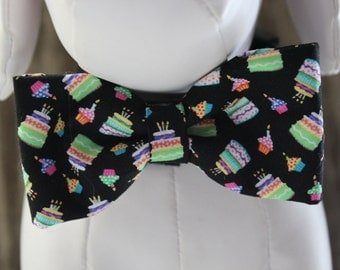 Bow Tie  Collar Attachment & Accessory for Dogs and Cats - BIRTHDAY Bow tie