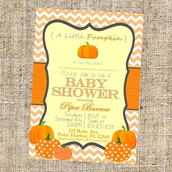 pumpkin baby shower invitation with pumpkins pumpkin invitation by