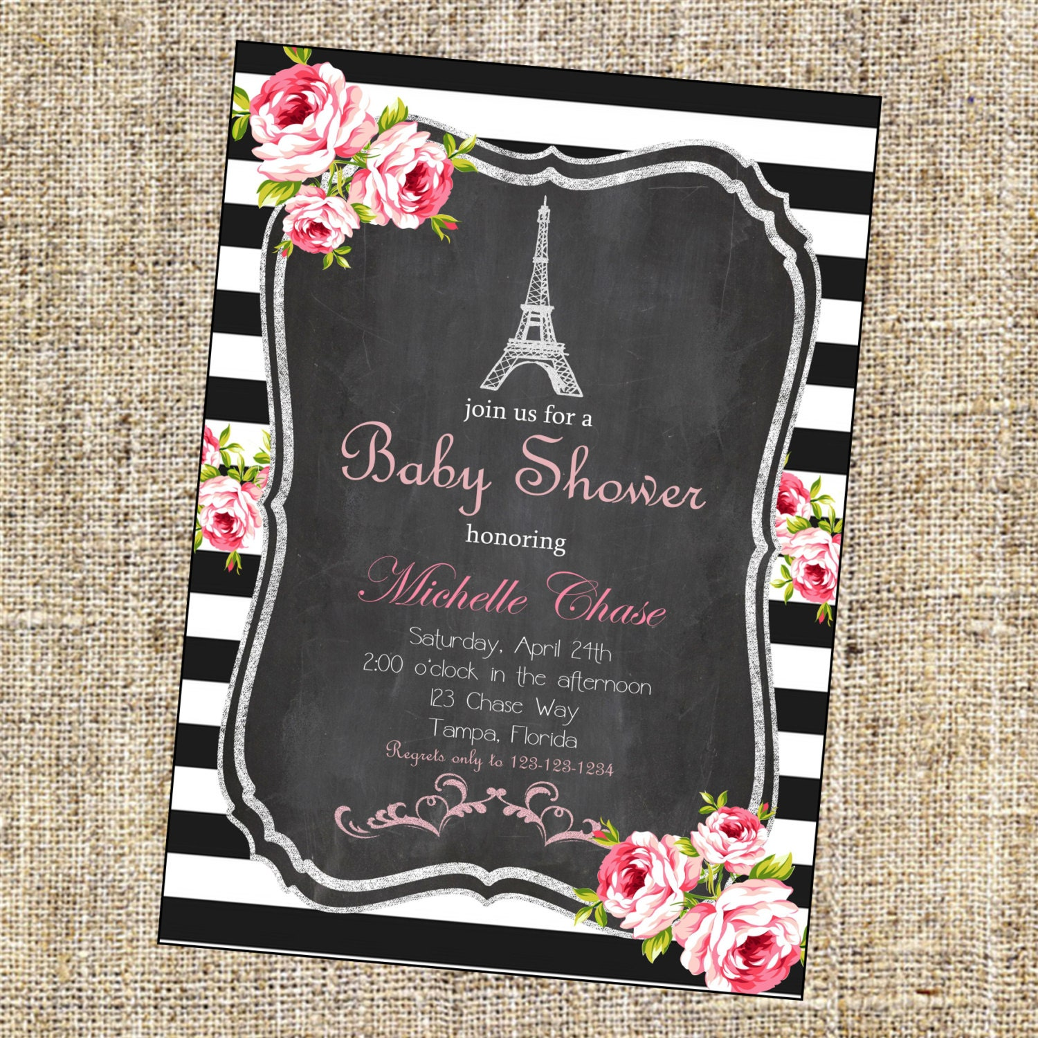 Vintage Paris Shower Invitation Paris Shower Invitation