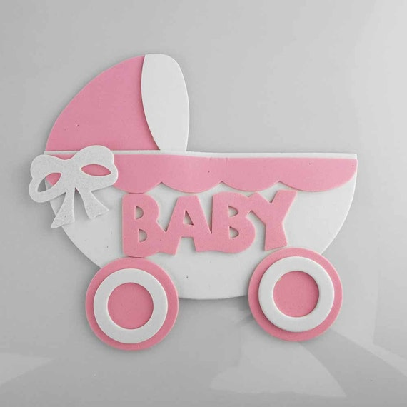 baby stroller baby shower foam decoration 7 inch