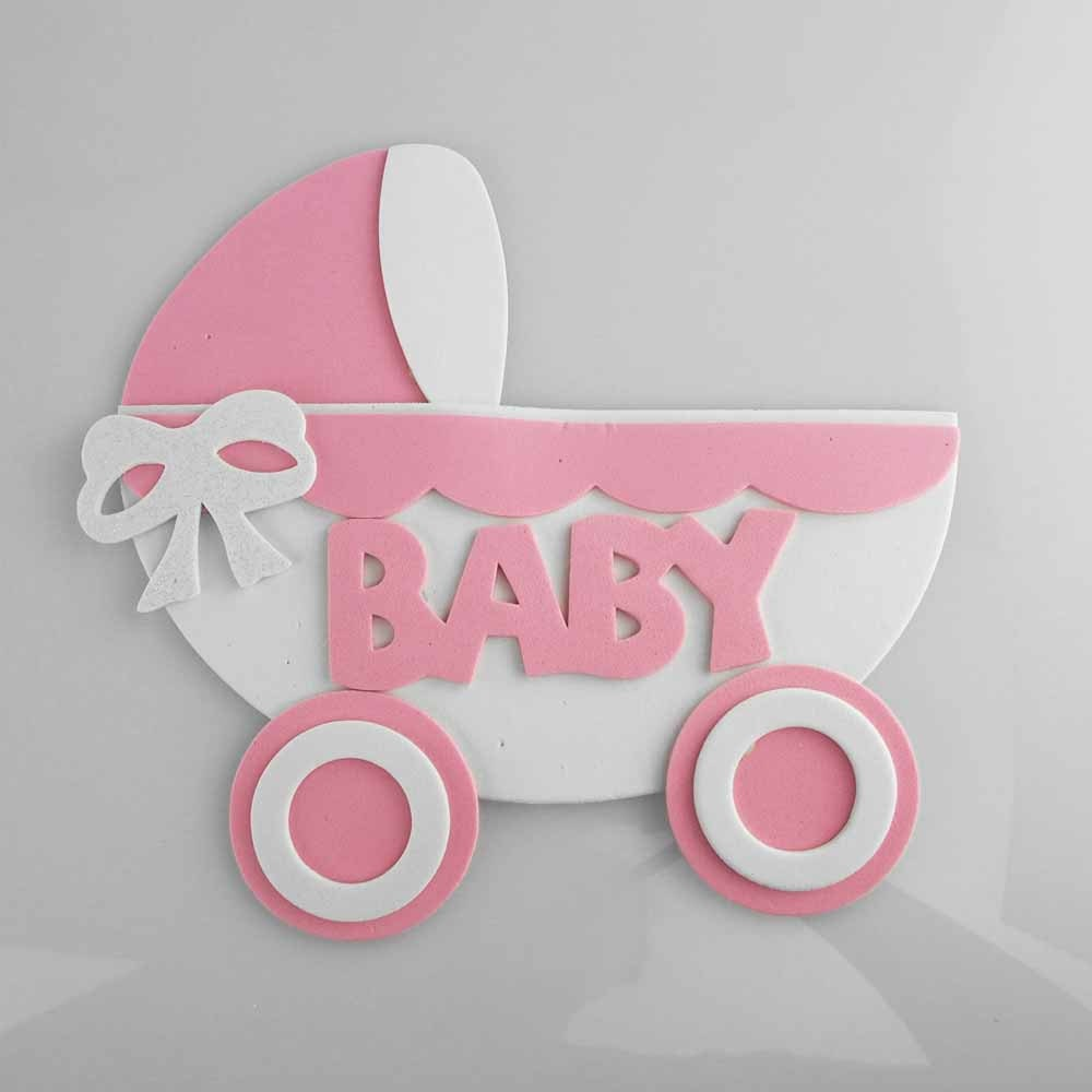 baby shower foam decoration stroller 7 inch by partyspin