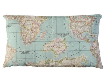World Map Pillow. Insert included.