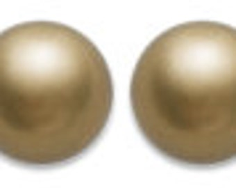 Swarovski Pearl 5810, Crystal Antique Brass 10mm 50pc #001402 Clearance