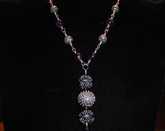 High Quality Amethyst, With sterling silver...neclace