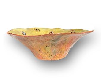paper mache bowl iridescent bowl decorative vessel. Black Bedroom Furniture Sets. Home Design Ideas