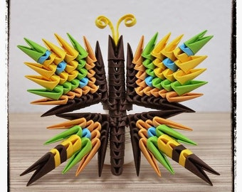 Set of 3 3D Origami Buterfly