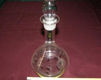 WJ Hughes Cornflower Crystal - Decanter