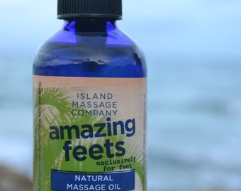 AMAZING FEETS 100% Natural & Organic Massage Oil for the Feet