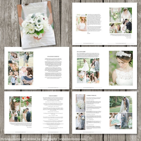 Wedding photography magazine template 22 page digital for Wedding photography brochure template