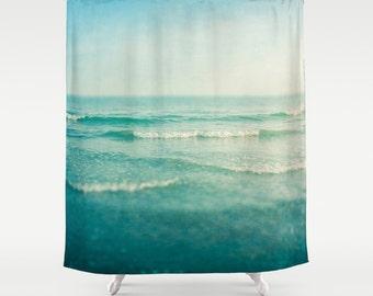 shower curtain, bathroom decor, modern shower curtain, sea shower curtain, ocean shower curtain, sea ocean water waves