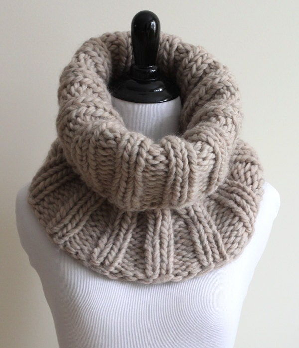 WOOL COWL Knit cowl soft wool knit cowl tube scarf 100%