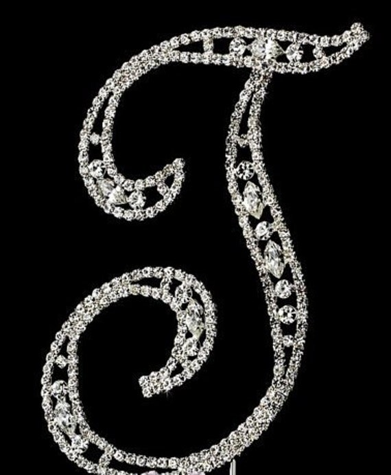 silver initial wedding cake toppers monogram wedding cake topper silver cake topper j rhinestone 19865