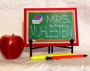 Teacher Gift- Personalized Teacher Name Plaque