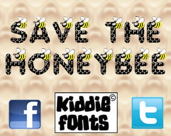 Save the HoneyBee Commercial Font