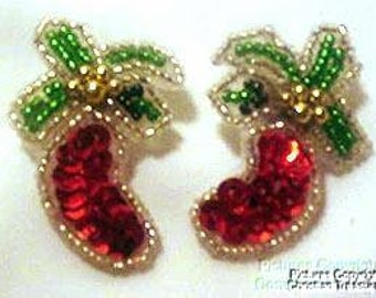 """Shop """"beaded christmas stockings"""" in Craft Supplies & Tools"""