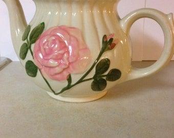 Shawnee Embossed Pink Rose Teapot