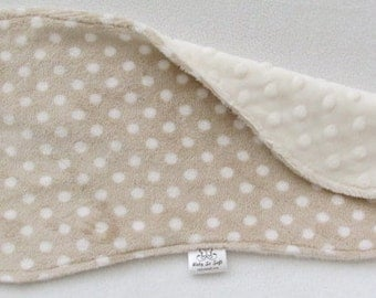 Burp Cloth - Beige Burp Cloth - Cream Burp Cloth - Minky Burp Cloth - Modern Burp Cloth