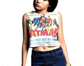 Batman Crop Top Tank Shirt Cropped Tops S M L