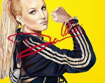 Britney Jean Spears Original Painting Poster (Print) Glory