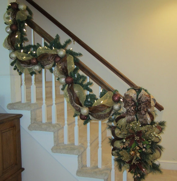 Christmas Stair Garland & Swag SHIPPING By