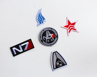 Mass Effect N7 Patch SET......5 DIFFERENT patches
