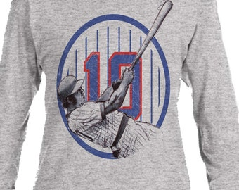 Ron Santo Officially Licensed MLB Chicago Cubs Long Sleeve Shirt S-3XL Ron Santo