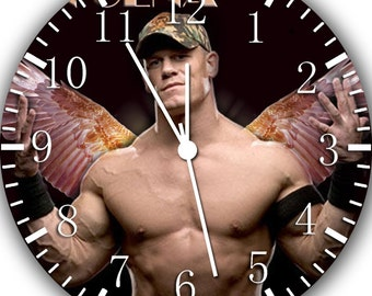 new john cena wall clock 10 will be nice gift and room. Black Bedroom Furniture Sets. Home Design Ideas