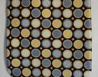 Davide Cenci men's designer polka dot circles Italian silk neck tie