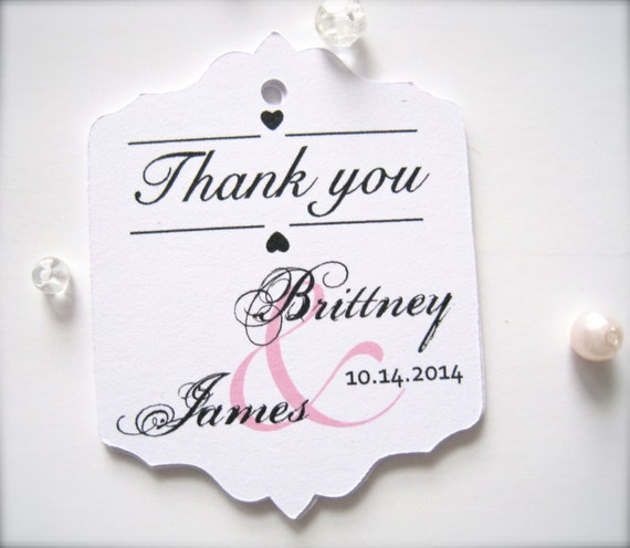 Favor tags, wedding favor tags, gift tags, party favor tags, custom tags - 30 tags