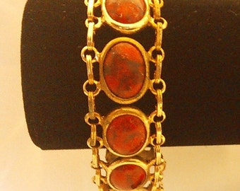 Vintage Red Marble Bracelet