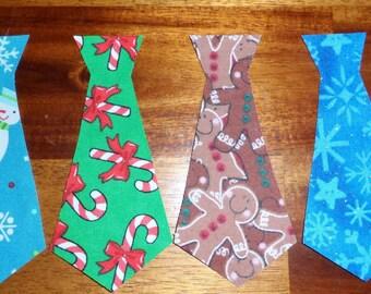 SALE Tie appliqué set (4 ties)