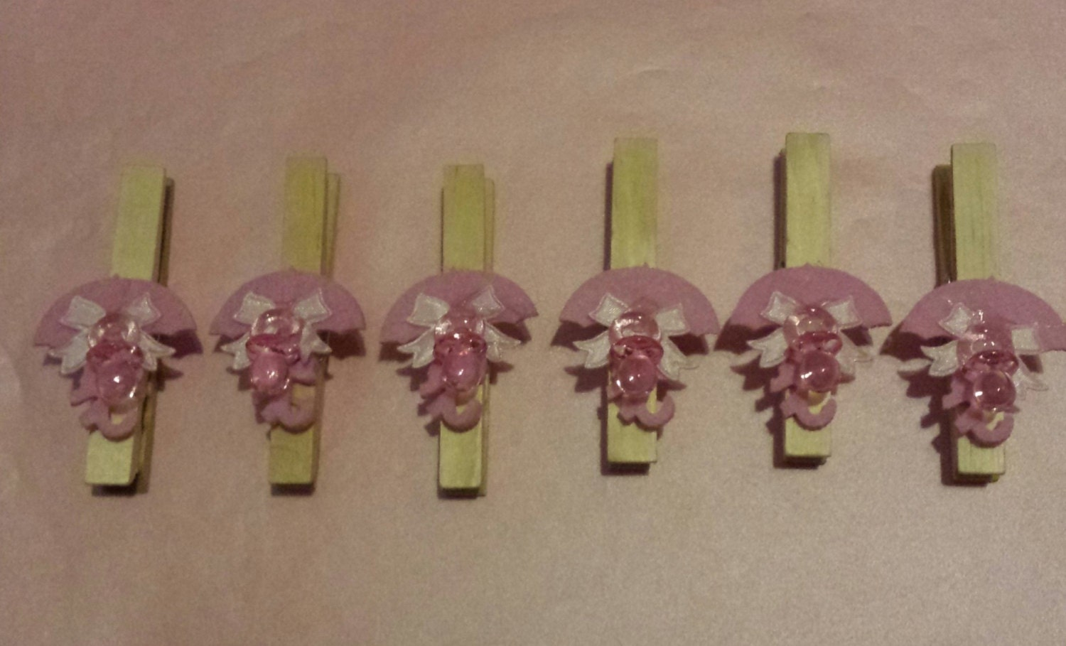 baby shower clothespins umbrella set of 6 by pinsthings on etsy