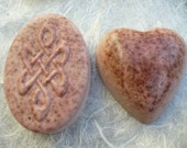 Rosehip & Rosewood woodland glycerin soap - Knot of Eternity or Heart - Mostly organic with essential oils - gentle and skin loving