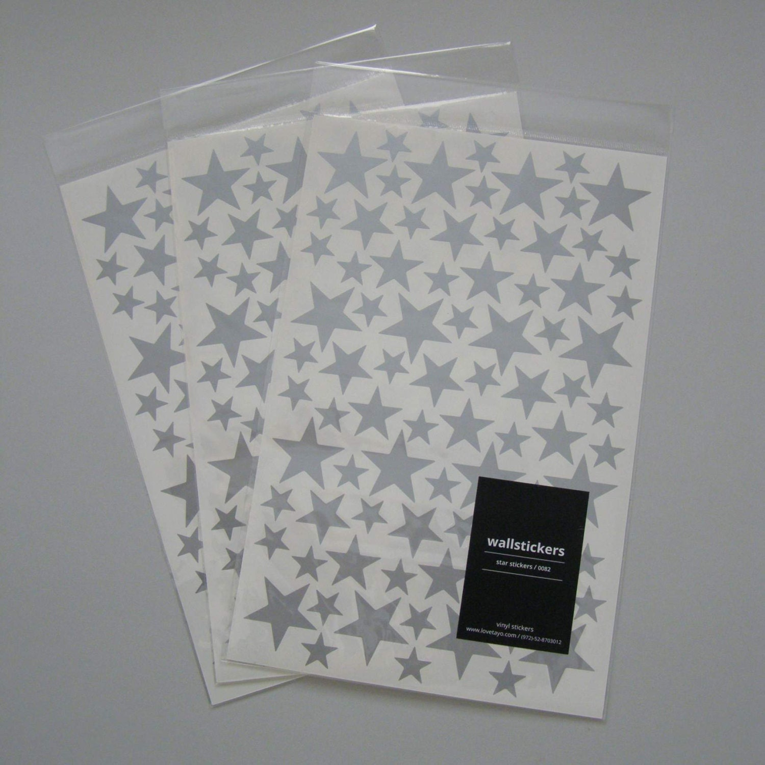 set of three silver star wall decals sheets set of 3 wall zoom