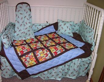 New Crib Bedding M W Oakland Raiders Fabric
