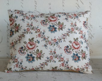 Cushion yellow - Upcycling - fabric furniture vintage 1960s-40 x 32 cm